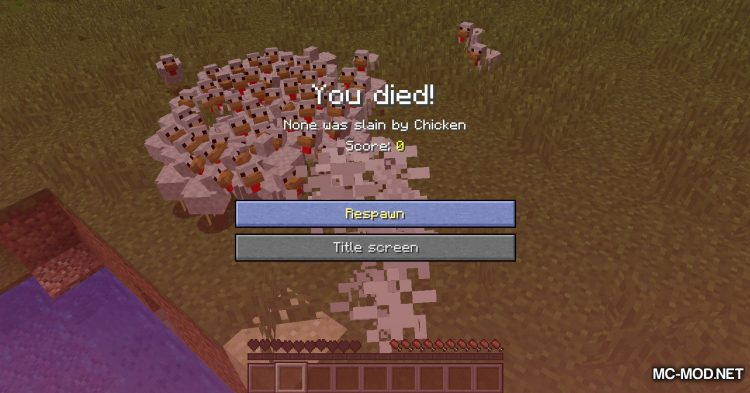 Aggressive Chickens mod for Minecraft (11)