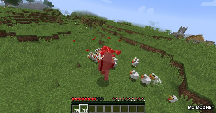 Aggressive Chickens mod for Minecraft (12)