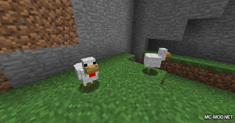 Aggressive Chickens mod for Minecraft (2)