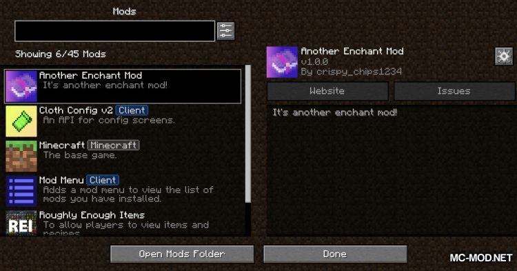 Another Enchant Mod mod for Minecraft (1)