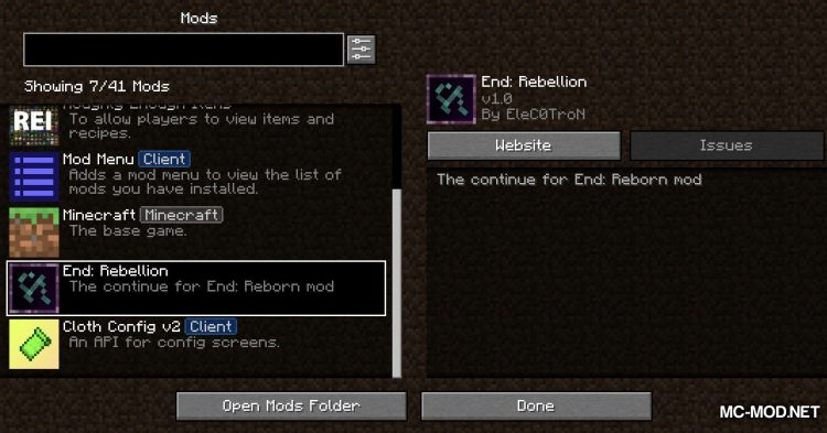 End Rebellion mod for Minecraft (1)