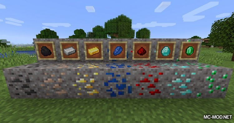 Gravel Ores mod for Minecraft (11)