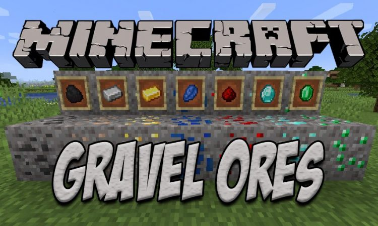 Gravel Ores mod for Minecraft logo
