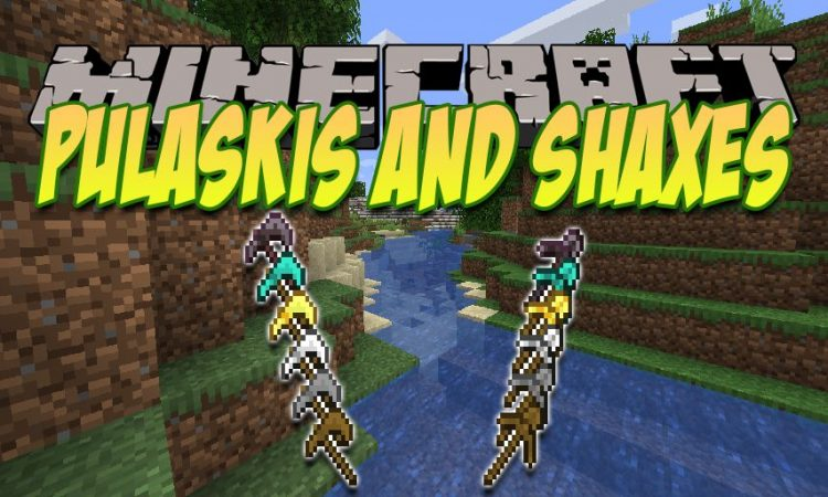 Pulaskis and Shaxes mod for Minecraft logo