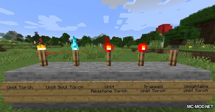 Unlit Torches mod for Minecraft (8)