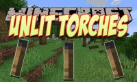 Unlit Torches mod for Minecraft logo