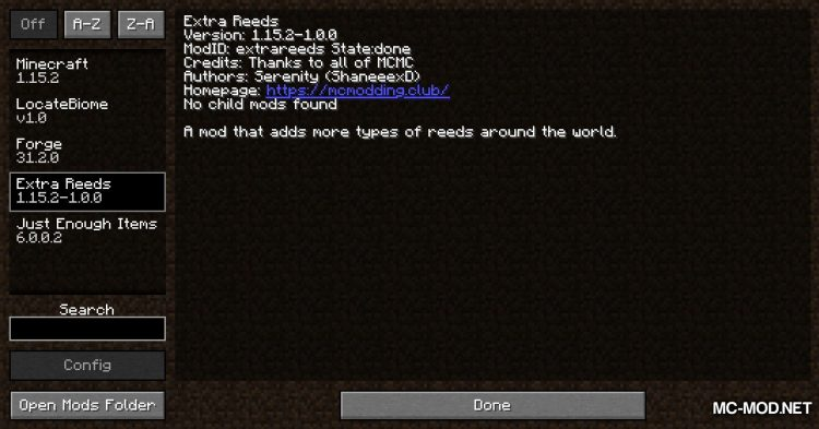 Extra Reeds mod for Minecraft (1)
