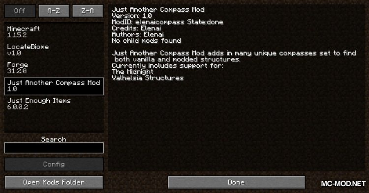 Just Another Compass Mod mod for Minecraft (1)