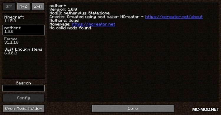 Nether+ mod for Minecraft (1)
