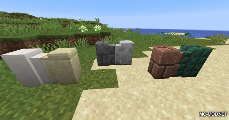New Slabs, Stairs _ Walls mod for Minecraft (11)