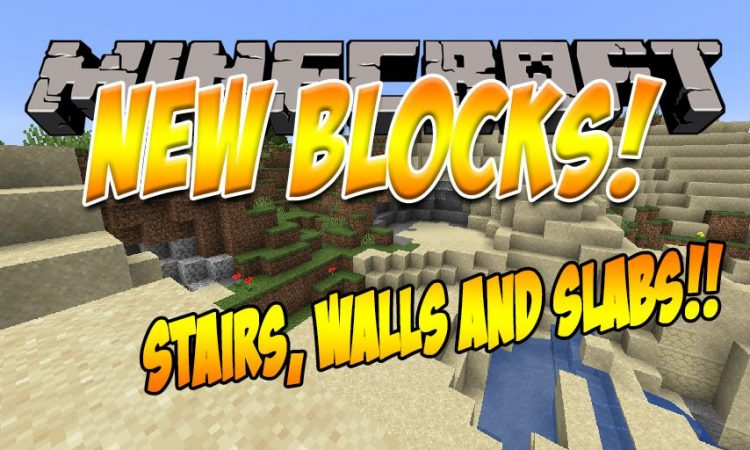 New Slabs, Stairs _ Walls mod for Minecraft logo