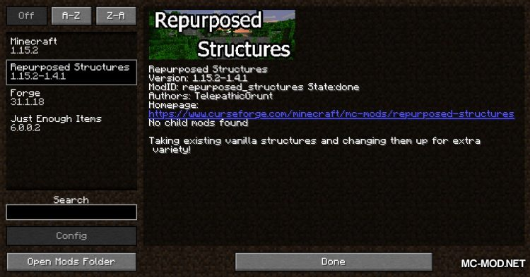 Repurposed Structures mod for Minecraft (1)