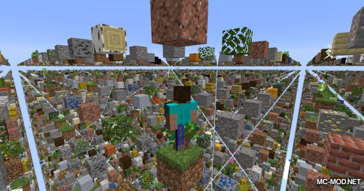 Skygrid mod for Minecraft (4)