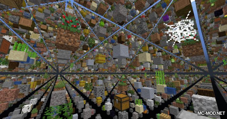 Skygrid mod for Minecraft (5)