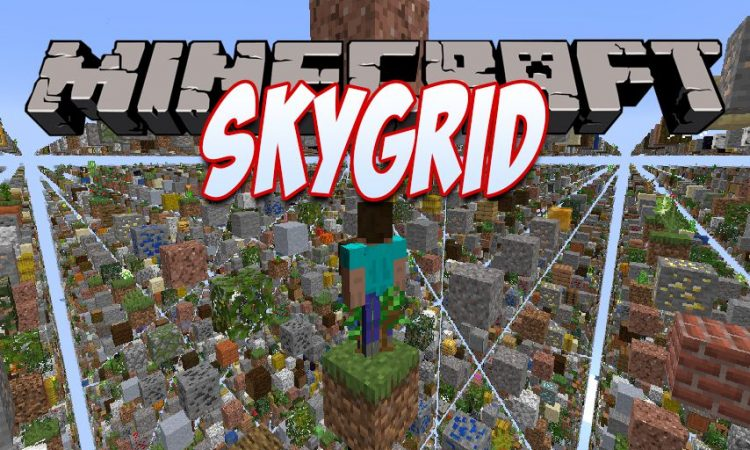 Skygrid mod for Minecraft logo