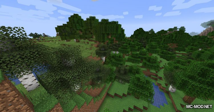 Snowy Leaves mod for Minecraft (1)
