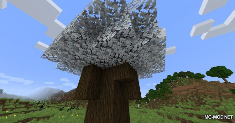 Snowy Leaves mod for Minecraft (13)