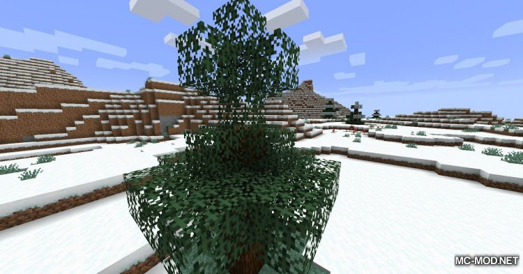 Snowy Leaves mod for Minecraft (2)