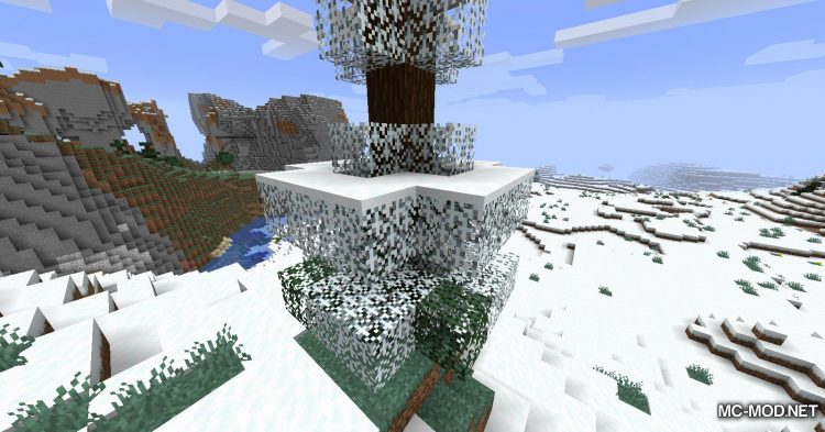 Snowy Leaves mod for Minecraft (3)