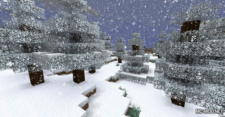 Snowy Leaves mod for Minecraft (6)