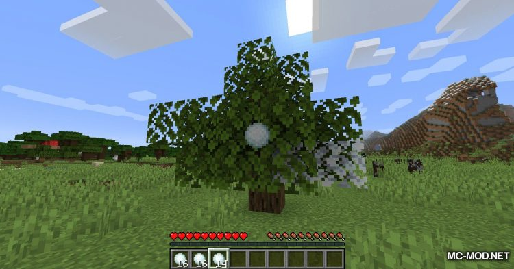 Snowy Leaves mod for Minecraft (8)