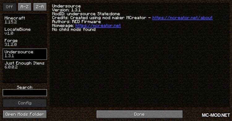 Under Source mod for Minecraft (1)