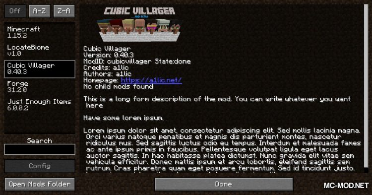 Cubic Villager mod for Minecraft (1)