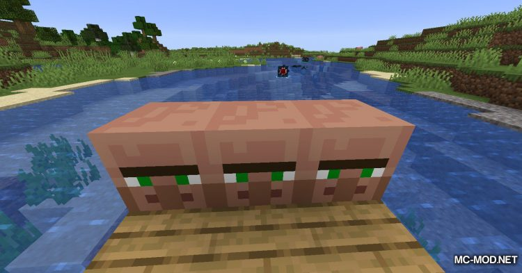 Cubic Villager mod for Minecraft (6)