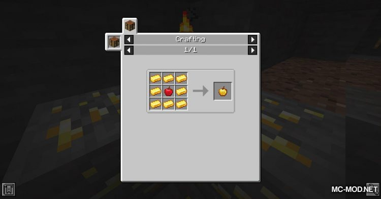 Easy Enchanted Golden Apple Recipe mod for Minecraft (3)