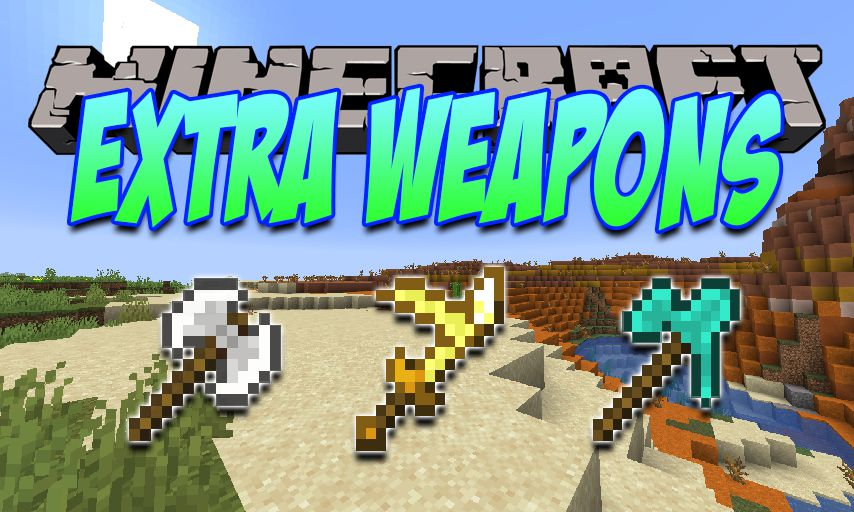 Extra Weapons mod for Minecraft logo