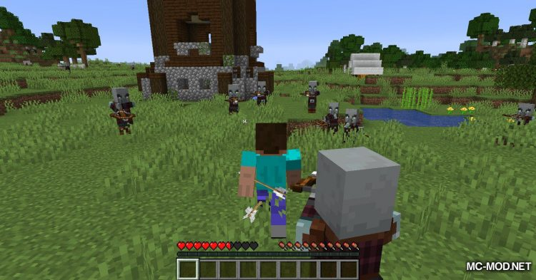 More Pillager Spawns mod for Minecraft (3)