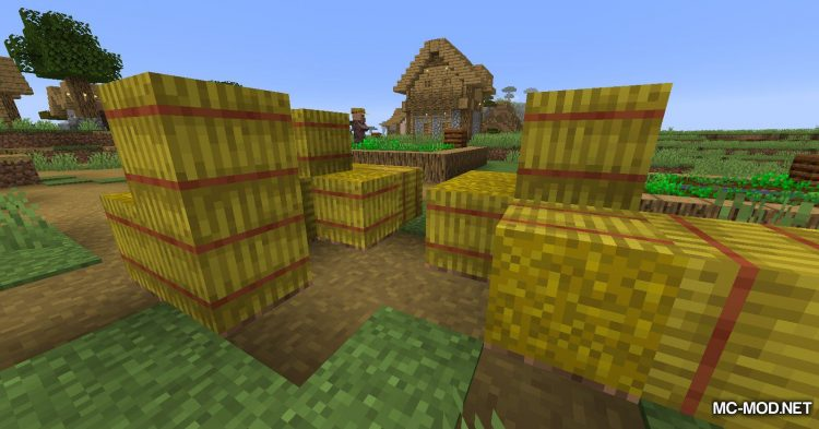 Softer Hay Bales mod for Minecraft (2)