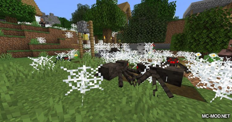 Spiders Produce Webs mod for Minecraft (10)