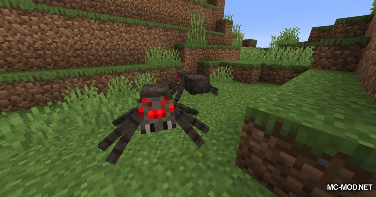 Spiders Produce Webs mod for Minecraft (2)