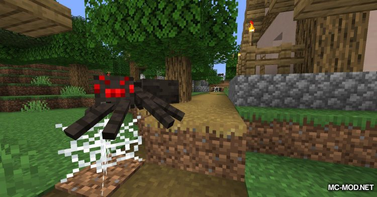 Spiders Produce Webs mod for Minecraft (4)