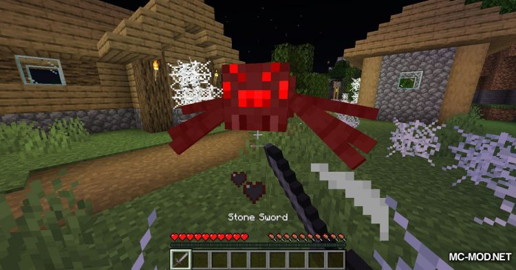 Spiders Produce Webs mod for Minecraft (6)