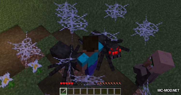 Spiders Produce Webs mod for Minecraft (7)