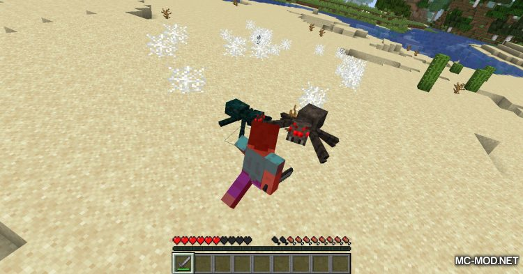 Spiders Produce Webs mod for Minecraft (8)