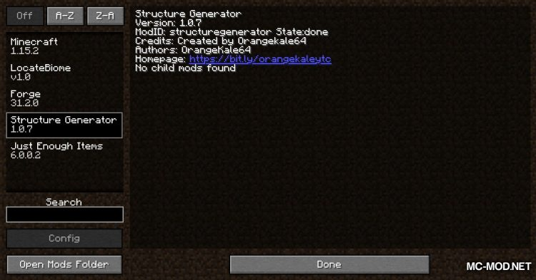 Structure Generator mod for Minecraft (1)