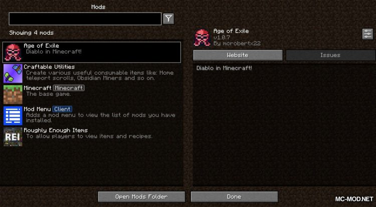 Library of Exile mod for Minecraft (6)
