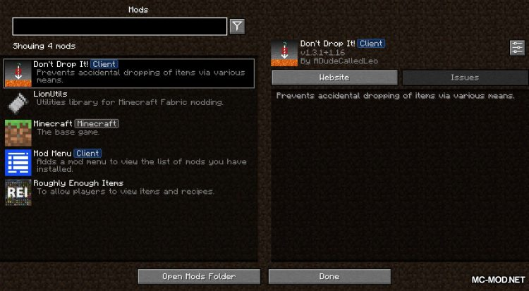 Don_t Drop It mod for Minecraft (1)