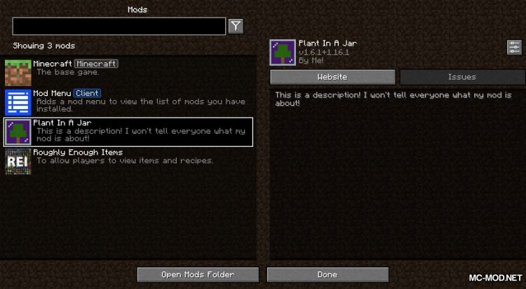 Plant In A Jar mod for Minecraft (1)
