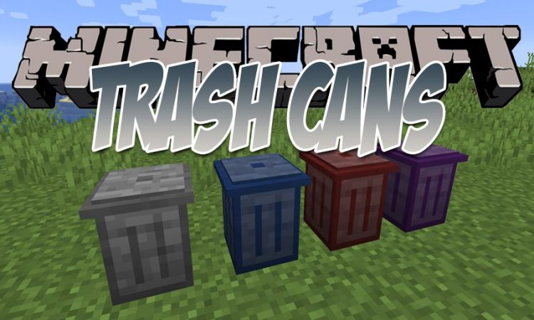 Trash Cans mod for Minecraft logo