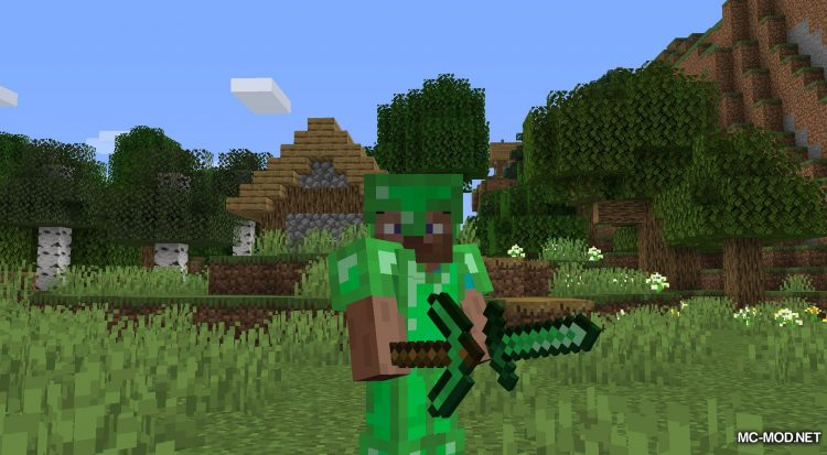 Easy Emerald Tools mod for Minecraft (5)