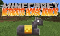 Netherite Horse Armor Mod mod for Minecraft logo
