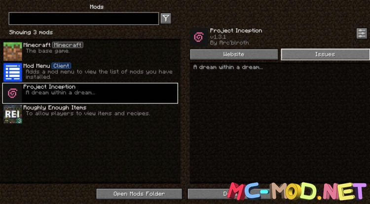 Project Inception mod for Minecraft (1)NEW
