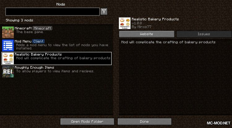 Realistic Bakery Product mod for Minecraft (1)