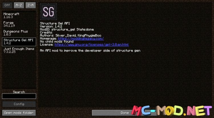 Structure Gel API mod for Minecraft (1)NEW