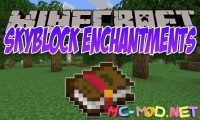 Skyblock Enchantments mod for Minecraft logo_compressed