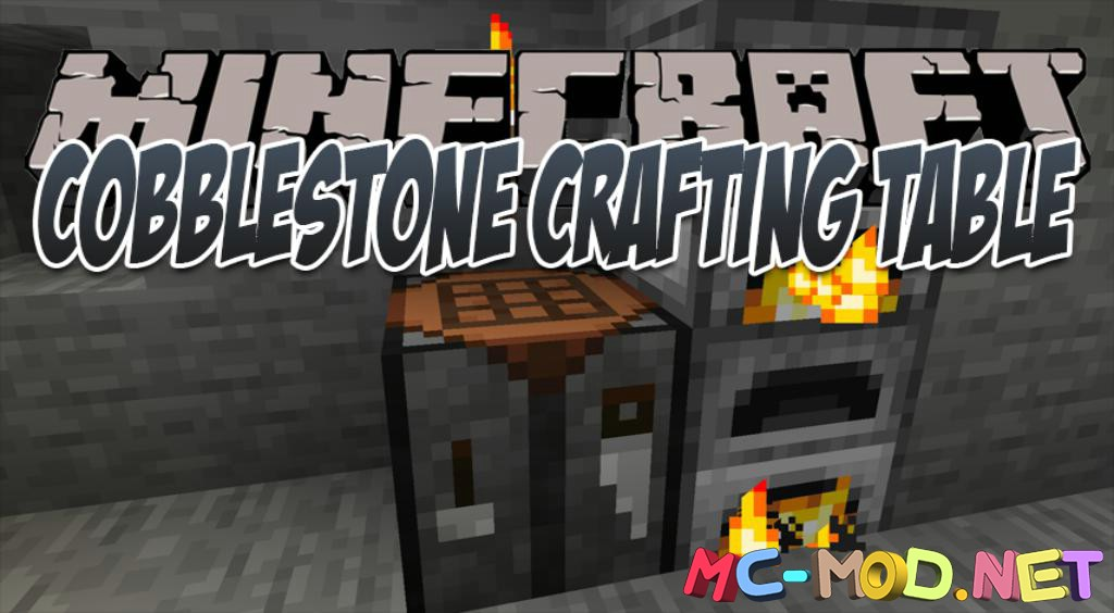 Cobblestone Crafting Table mod for Minecraft logo_compressed